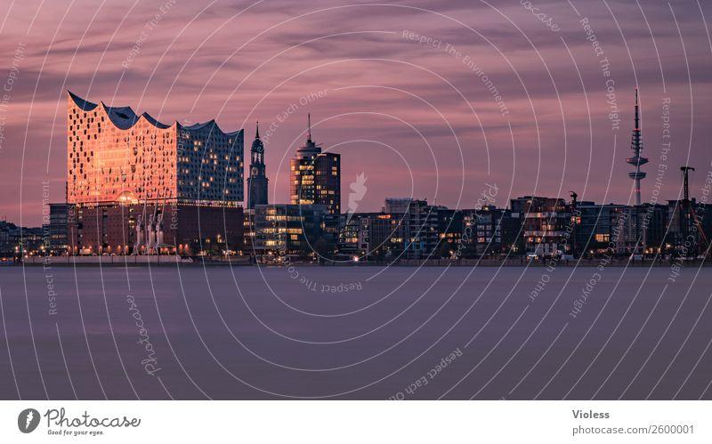 Schönste Stadt Skyline 9 Hafenstadt Bauwerk Gebäude Sehenswürdigkeit Wahrzeichen Denkmal glänzend außergewöhnlich Coolness fantastisch maritim Hamburg