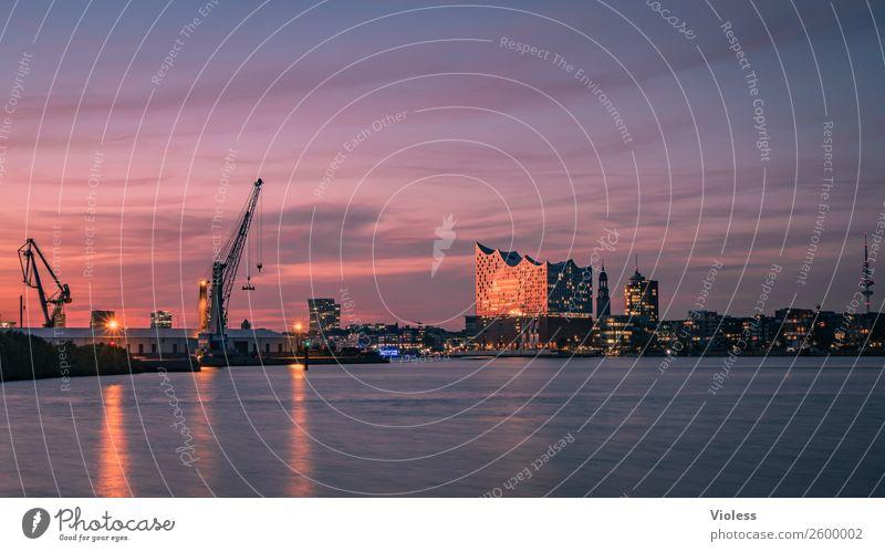 Schönste Stadt Skyline 7 Hafenstadt Bauwerk Gebäude Sehenswürdigkeit Wahrzeichen Denkmal glänzend außergewöhnlich Coolness fantastisch maritim Hamburg