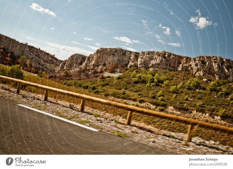 vorbeigerauscht VII Natur Ferien & Urlaub & Reisen Pflanze Ferne Landschaft Wärme Freiheit Felsen Ausflug Verkehr Abenteuer Geschwindigkeit Reisefotografie