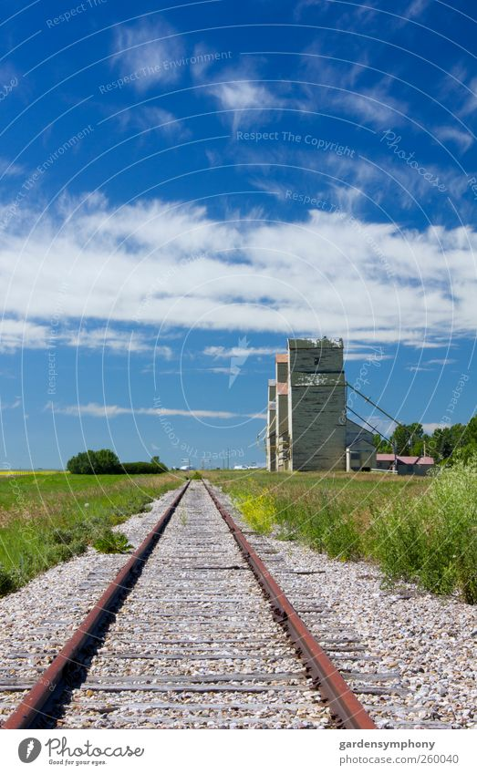 Himmel Natur alt Sommer Umwelt Landschaft Architektur Gebäude Eisenbahn Güterverkehr & Logistik Bauwerk historisch Ernte Kanada Weizen Reling