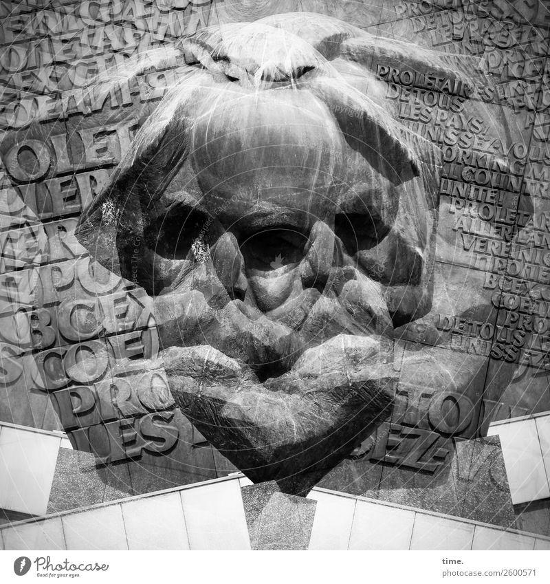 komplex|e Denkstruktur lernen Philosoph Schriftsteller Marxismus-Leninismus maskulin Mann Erwachsene 1 Mensch Kunst Kunstwerk Skulptur Chemnitz Stadtzentrum