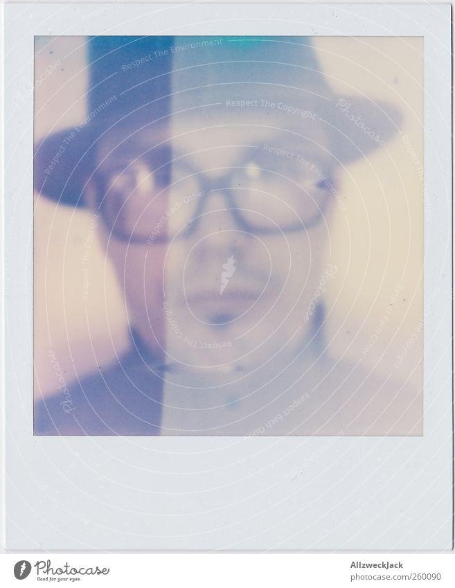 scheiß Hippster! Mensch Mann schön Erwachsene Kopf Stil Mode maskulin authentisch Brille retro einzigartig Hut Bart trashig nerdig
