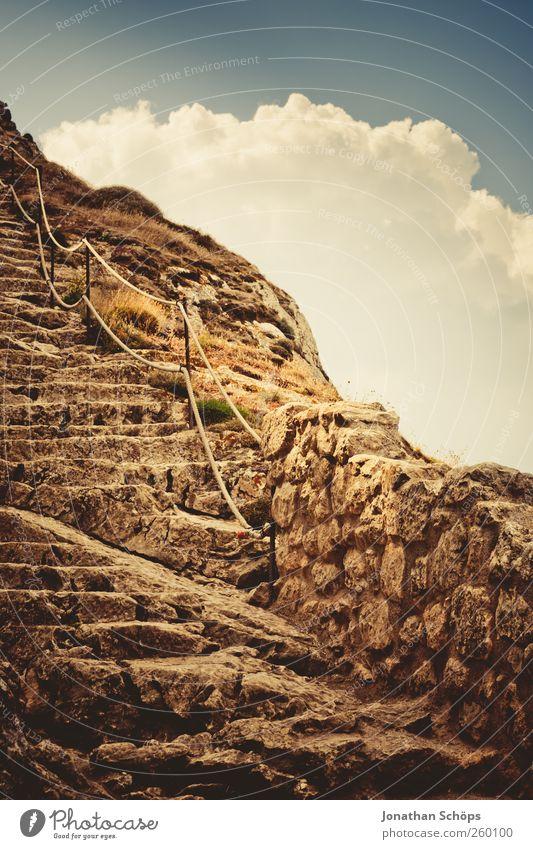Himmelstreppe Natur Ferien & Urlaub & Reisen Himmel (Jenseits) Wolken Ferne Berge u. Gebirge Freiheit Stein Felsen wandern Ausflug Abenteuer Macht Hoffnung
