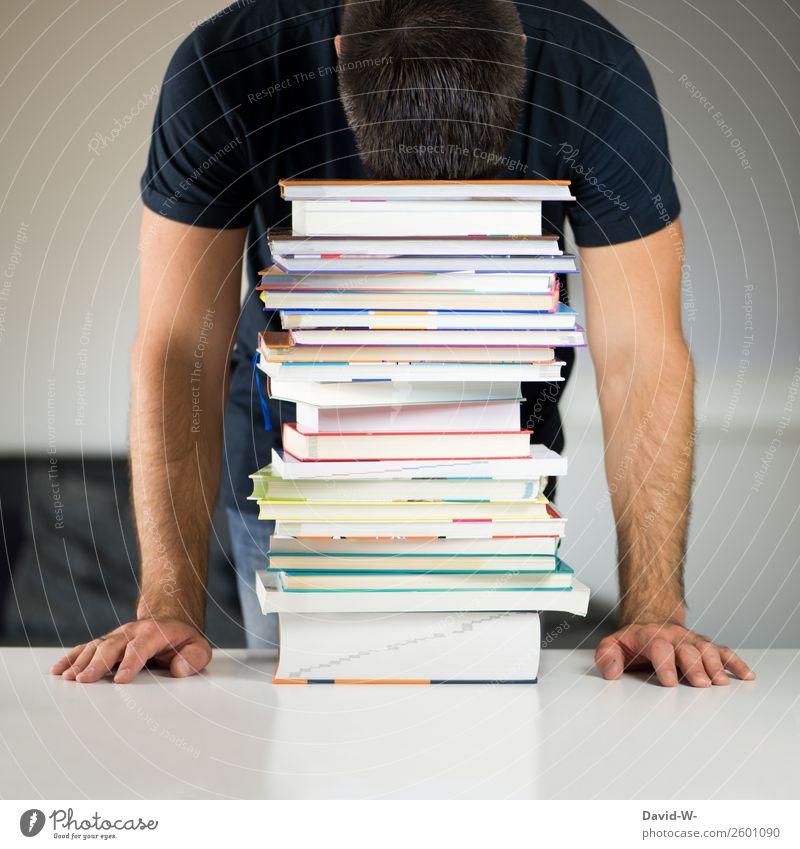 Gedankenübertragung Bildung Erwachsenenbildung Schule lernen Studium Student Arbeitsplatz Büro Business Mensch maskulin Junger Mann Jugendliche Leben Kunst
