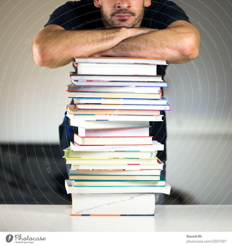 lauter Bücher elegant Zufriedenheit ruhig Freizeit & Hobby Bildung Erwachsenenbildung lernen Studium Student Prüfung & Examen Karriere Erfolg Mensch maskulin
