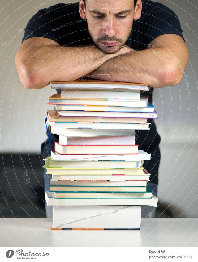 keine Motivation Stil Design Bildung Schule lernen Berufsausbildung Azubi Studium Student Prüfung & Examen Karriere Mensch maskulin Mann Erwachsene Leben 1