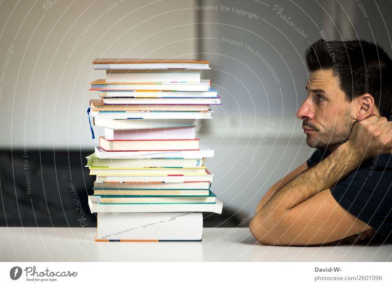 puh Lifestyle Stil Design Bildung Schule lernen Berufsausbildung Azubi Studium Prüfung & Examen Mensch maskulin Mann Erwachsene Leben lesen Gefühle fleißig