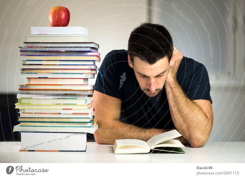 büffeln Erholung ruhig Bildung Schule lernen Azubi Studium Student Prüfung & Examen Business Mensch maskulin Mann Erwachsene Leben 1 lesen gewissenhaft