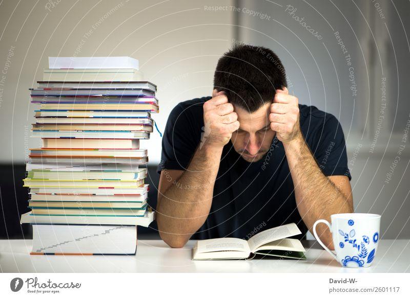 vertieft Bildung Schule lernen Studium Student Prüfung & Examen Arbeit & Erwerbstätigkeit Business Mensch maskulin Mann Erwachsene Leben 1 lesen Willensstärke