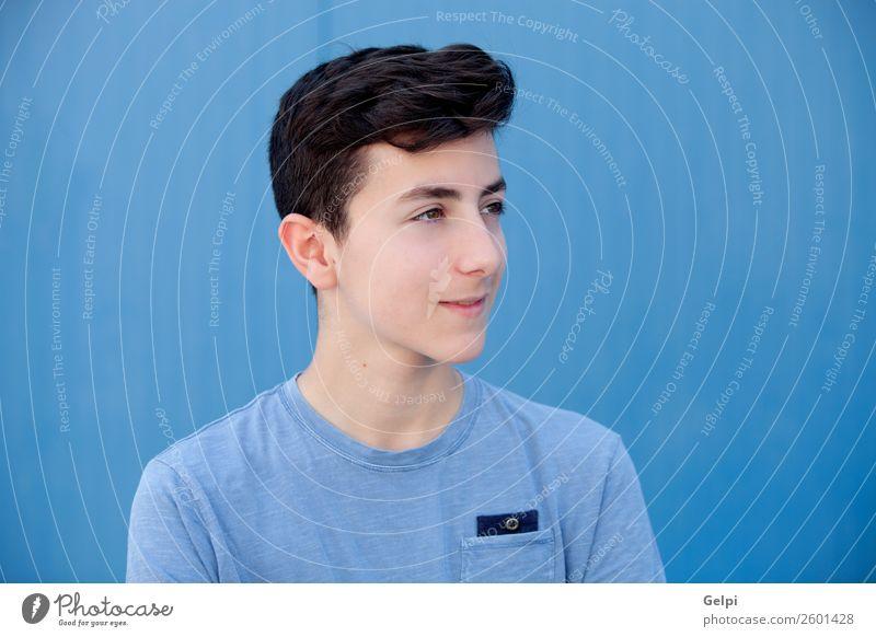 Porträt eines Teenagers Lifestyle Stil Glück schön Gesicht Mensch Junge Mann Erwachsene Jugendliche Mode Lächeln Coolness frisch modern natürlich niedlich