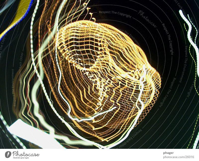 lichterldings 2 Lichtstreifen Nacht Kreis Drehung abstrakt Spuren drehen gedreht Wasserwirbel Leuchtspur Freizeit & Hobby Bewegung Lampe