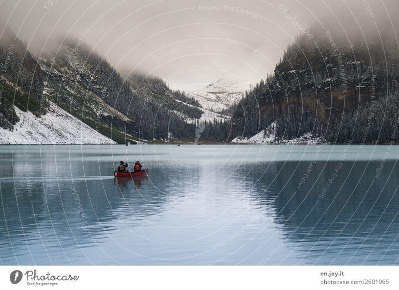 frostig Ferien & Urlaub & Reisen Tourismus Ausflug Abenteuer Freiheit Expedition Winter Schnee Berge u. Gebirge 2 Mensch Umwelt Natur Landschaft Klima