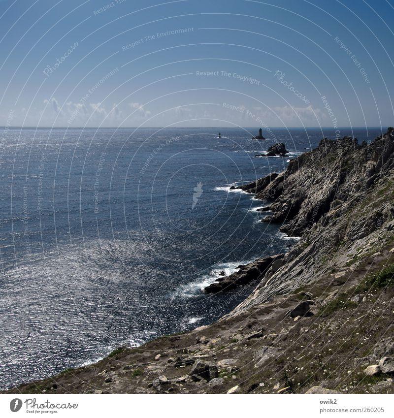 Penn ar Bed Natur blau Wasser Ferien & Urlaub & Reisen Meer Strand Ferne Umwelt Landschaft Freiheit Küste Horizont Wellen Felsen Ausflug Klima