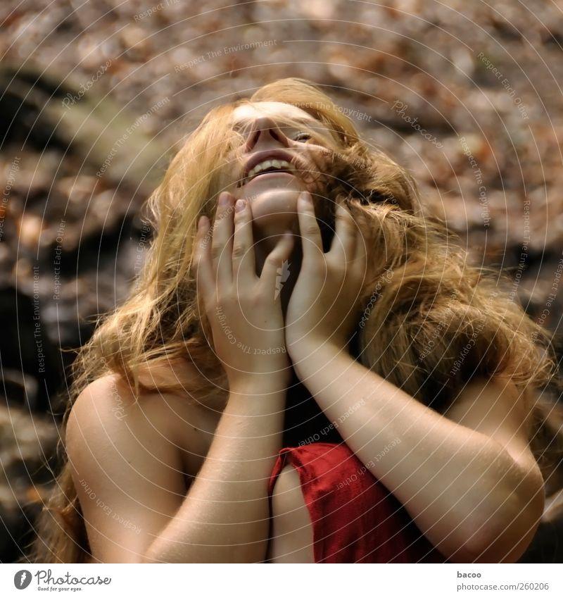 Berit - delight Mensch Frau schön ruhig Erwachsene Erholung feminin Gefühle Glück träumen braun Zufriedenheit gold natürlich leuchten Romantik