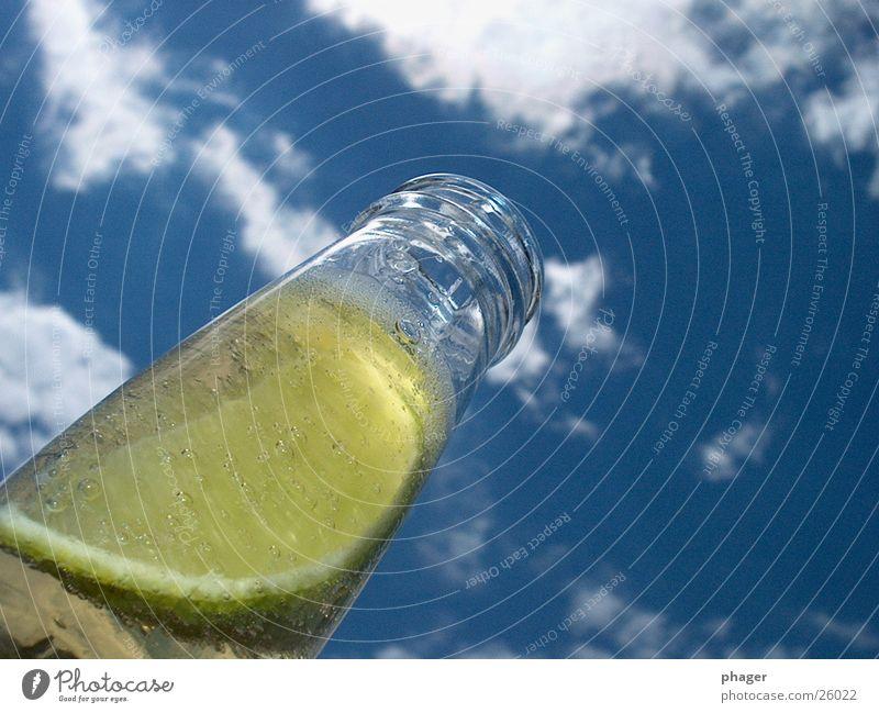 bierchen! Himmel Sommer Wolken Glas Getränk trinken Bier Flasche Alkohol Zitrone Durst Kohlensäure