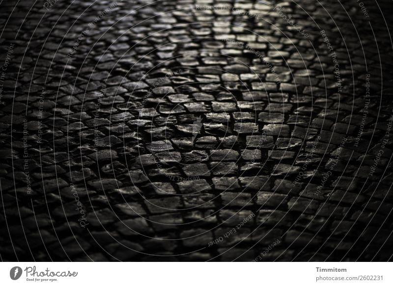 In der Unterführung Wege & Pfade Stein dunkel braun grau schwarz Gefühle Pflastersteine Fuge unregelmäßig Farbfoto Außenaufnahme Menschenleer Tag Licht Schatten