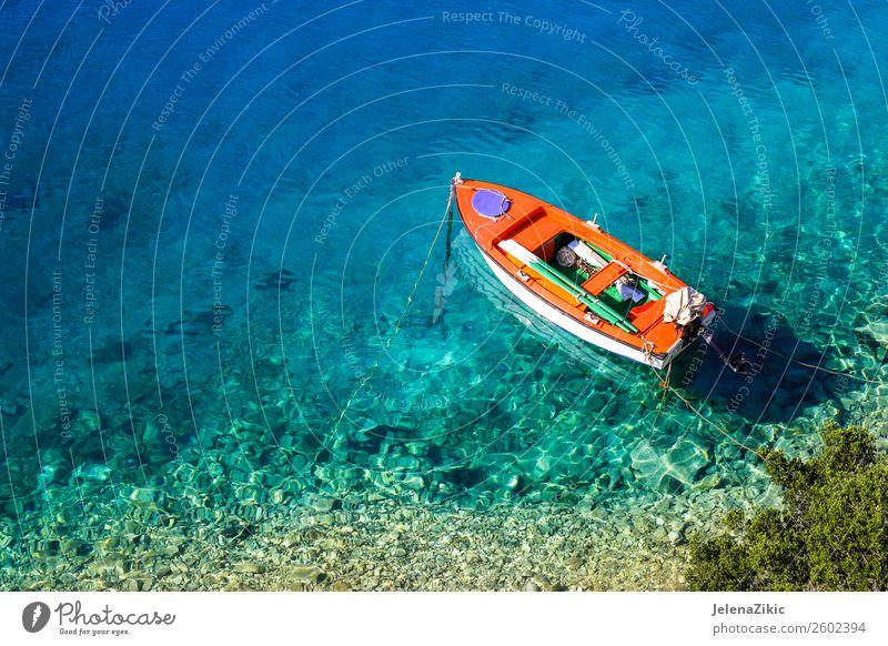 Himmel Natur Ferien & Urlaub & Reisen Sommer blau Farbe schön grün Wasser Landschaft Sonne Meer Strand natürlich Küste Tourismus