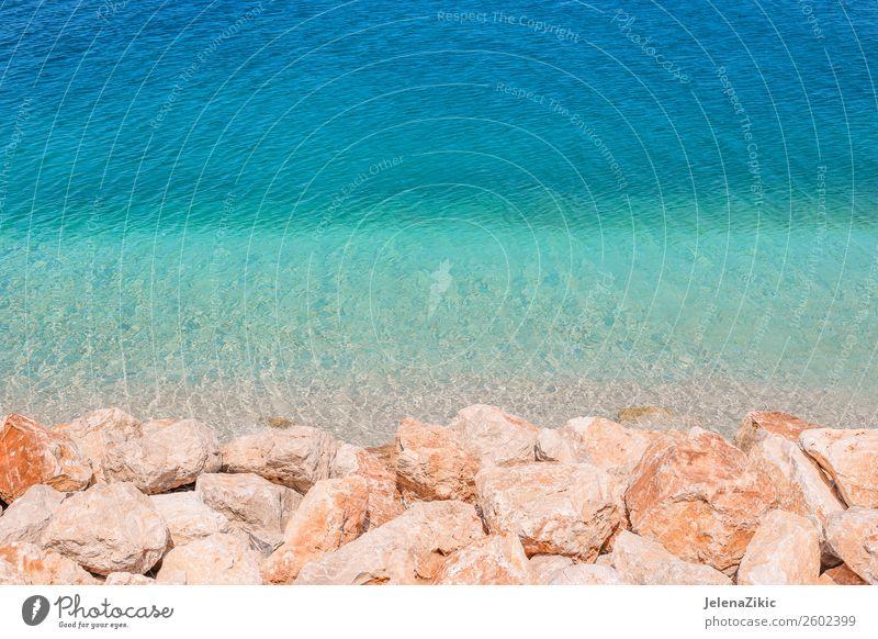 Felsen und türkisfarbener Wassergrund exotisch schön Ferien & Urlaub & Reisen Tourismus Sommer Strand Meer Insel Tapete Natur Landschaft Küste Stein hell