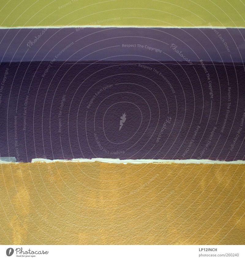 Wandmalerei II Handwerk Haus Mauer Streifen streichen Häusliches Leben Anstreicher zudecken Tapete mehrfarbig Farbstoff Ecke Renovieren Farbkombination Farbfoto