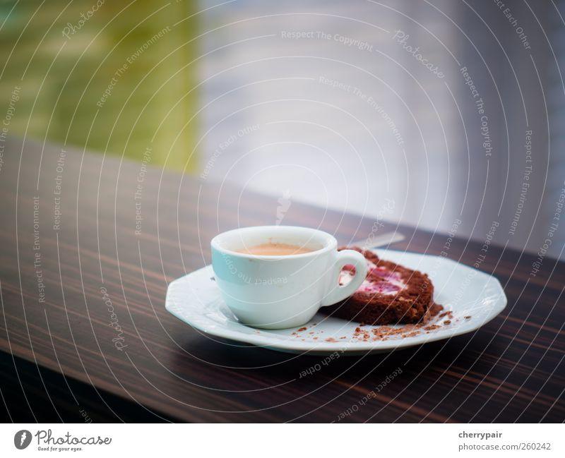 snack/dessert Lebensmittel Kuchen Dessert Schokolade Ernährung Kaffeetrinken Getränk Heißgetränk Teller Tasse Löffel genießen ästhetisch heiß lecker süß