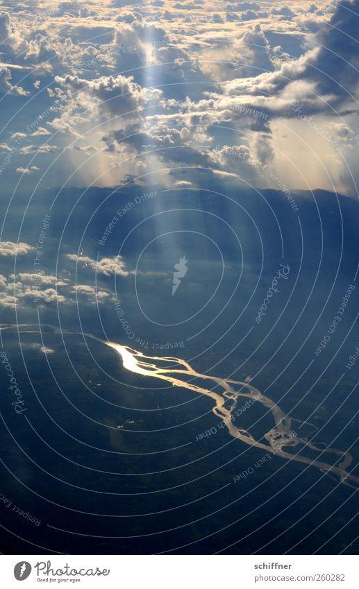 Orinoco Flow II Umwelt Natur Landschaft Urelemente Erde Himmel Wolken Sonne Sonnenlicht Klima Wetter Schönes Wetter Fluss fantastisch Unendlichkeit Flussufer