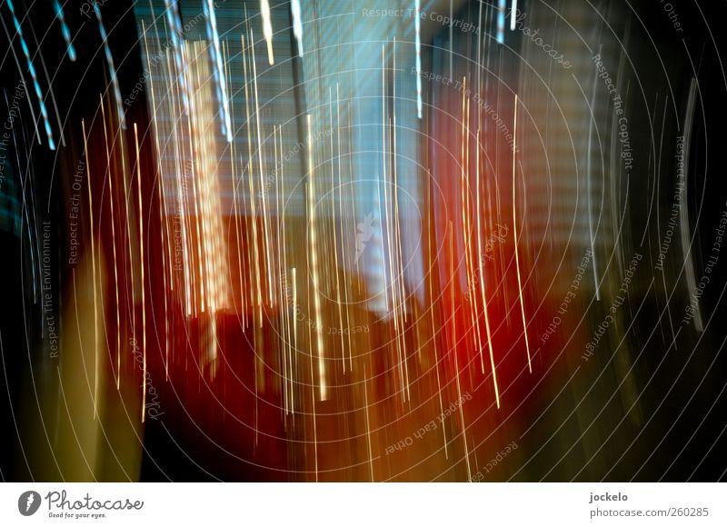 Colormatrix Kunst Aggression blau gelb rot schwarz chaotisch Kreativität Farbfoto Experiment Strukturen & Formen Kunstlicht Bewegungsunschärfe