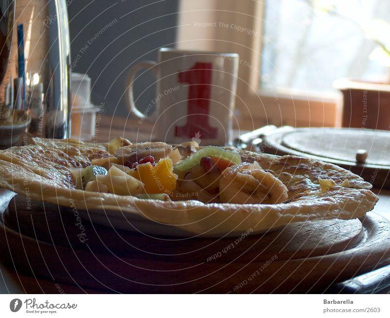 Pfannekuchen Gesundheit Frucht lecker Frühstück Pfannkuchen