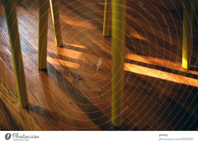 Stängel Innenarchitektur Dekoration & Verzierung Möbel Stuhl Wohnzimmer Küche trendy schön dünn unten braun gelb friedlich Gelassenheit ruhig Farbfoto
