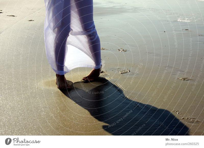 wenn jetzt sommer wär Wellness Wohlgefühl Zufriedenheit Ferien & Urlaub & Reisen Sommer Sommerurlaub Strand feminin Junge Frau Jugendliche Beine Fuß Umwelt Sand