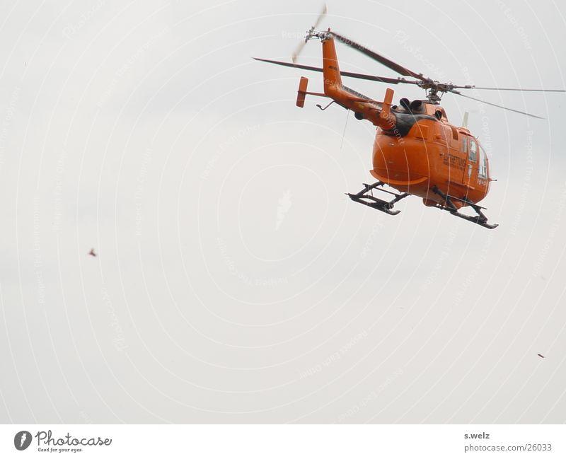 Nicht gelb, aber trotzdem Engel Rettungshubschrauber Hubschrauber Luftverkehr Luftrettung BDI BGS