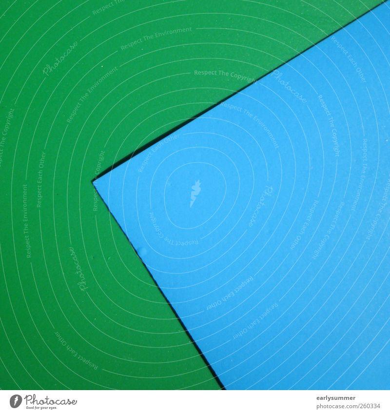 pacman blau grün Architektur Linie Schilder & Markierungen Design verrückt Streifen Papier Ecke Zeichen Pfeil Werbung Fressen Surrealismus Zettel