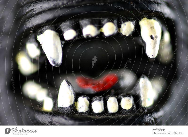 karies und baktus Wildtier 1 Tier gruselig bedrohlich böse Aggression Zähne wild beißen Angriff angriffslustig Fressen Zunge Monster Ungeheuer Gorilla Gebiss