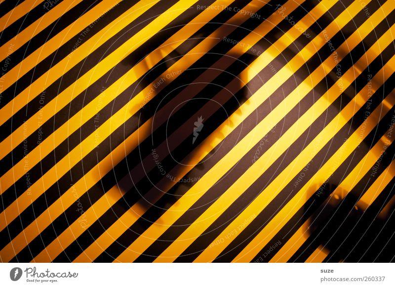 Under Construction Arbeit & Erwerbstätigkeit Baustelle Hinweisschild Warnschild Streifen lustig gelb schwarz Idee Kreativität Warnung gestreift Warnhinweis