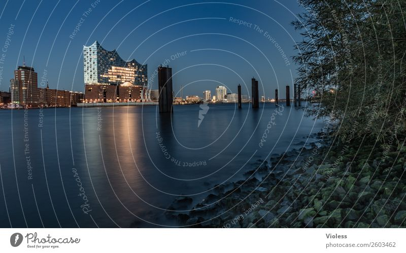 blau machen III.... Hafenstadt Stadtzentrum Skyline Bauwerk Architektur Sehenswürdigkeit Wahrzeichen Denkmal außergewöhnlich Bekanntheit Kitsch maritim modern
