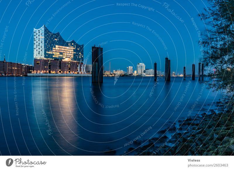 blau machen.... Hafenstadt Stadtzentrum Skyline Bauwerk Architektur Sehenswürdigkeit Wahrzeichen Denkmal außergewöhnlich Bekanntheit Kitsch maritim modern