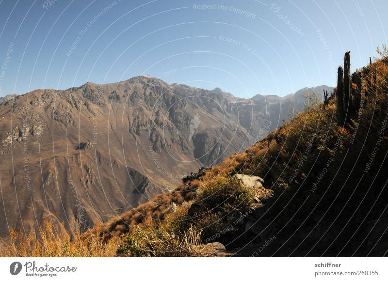 Cañón del Colca Himmel Natur Sommer Ferne Umwelt Landschaft Berge u. Gebirge Sand Luft braun Erde Felsen Klima Urelemente trocken Gipfel