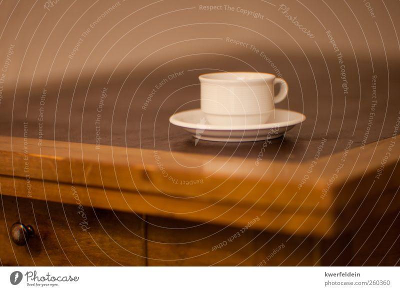 Eine Tasse Kaffee Erholung ruhig gelb natürlich braun hell Zufriedenheit Ernährung retro Lebensfreude Sauberkeit Getränk Gelassenheit heiß Frühstück