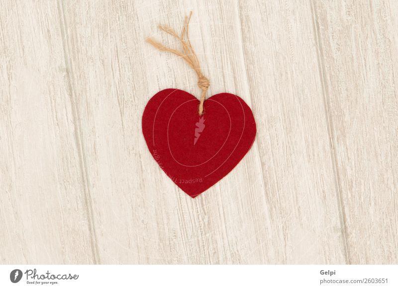 Valentinstag rote Herzen auf grauem Holzgrund Design schön Dekoration & Verzierung Tisch Tapete Feste & Feiern Hochzeit Ornament alt Liebe modern retro Romantik