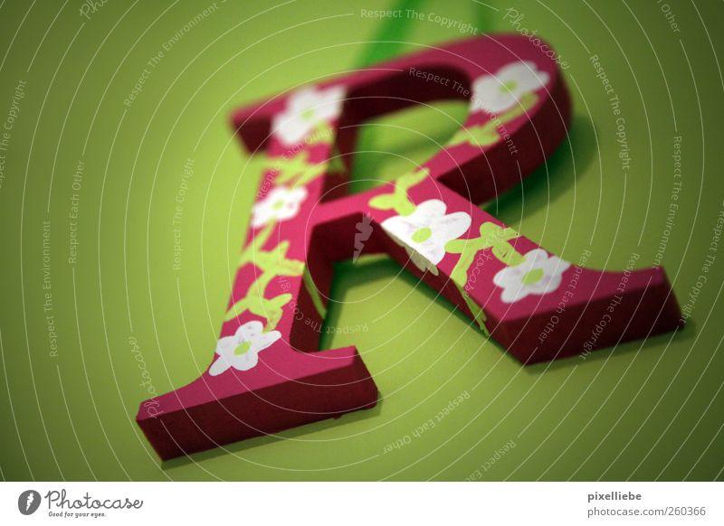 Frrrrrühling! weiß grün Wand Holz Kunst Kindheit Raum Wohnung rosa Design Schriftzeichen Dekoration & Verzierung Häusliches Leben Kitsch verschönern einrichten