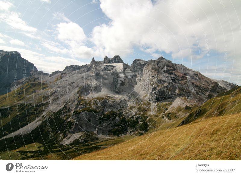 drei Türme Natur Ferien & Urlaub & Reisen blau grün Sommer Erholung Landschaft Ferne Berge u. Gebirge Umwelt grau außergewöhnlich braun Felsen Horizont Schönes Wetter
