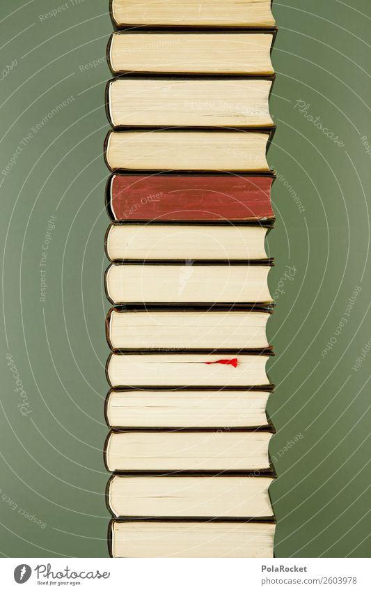 #A# Retro-Bücherturm Kunst Schule ästhetisch lernen Buch Studium Wissenschaften Buchseite Bibliothek Wissenschaftler Bücherregal Büchersendung