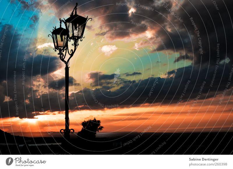 Sky Himmel Wolken Schönes Wetter Ostuni Italien Laterne Warmherzigkeit ruhig Zufriedenheit Ende Farbe Frieden Horizont Kitsch Ferien & Urlaub & Reisen