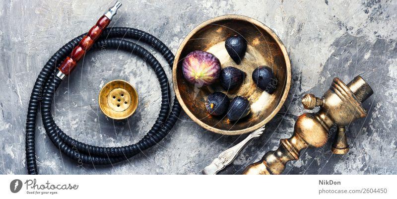 Orientalische Shisha mit Feigen Wasserpfeifenrauch shisha Tabak nargile Beeren kalianisch Rauch Nikotin Rauchen Osten Erholung Frucht arabisch Mundstück Röhren