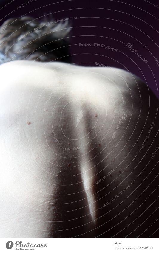 sanftmut Mensch Mann schön ruhig Erwachsene Erholung kalt Leben nackt Körper Rücken natürlich Haut maskulin authentisch ästhetisch
