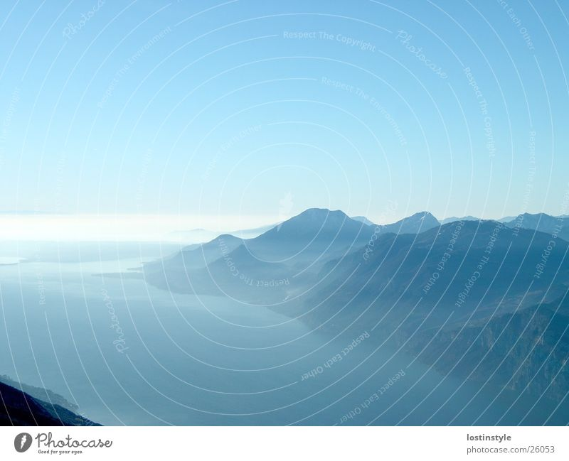 lago di garda Berge u. Gebirge See Alpen Gardasee