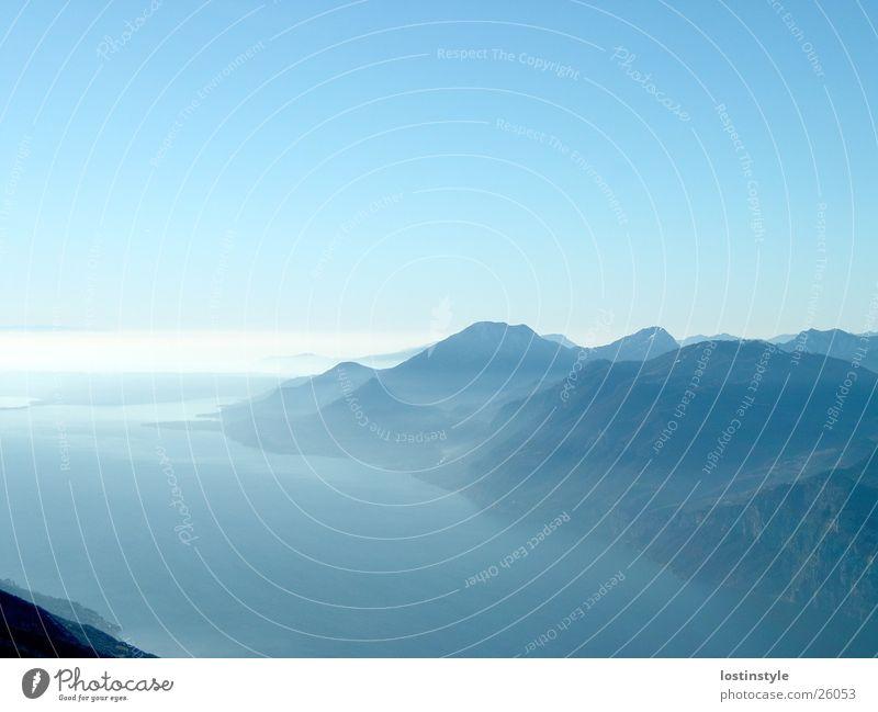 lago di garda See Gardasee Berge u. Gebirge Alpen monte baldo