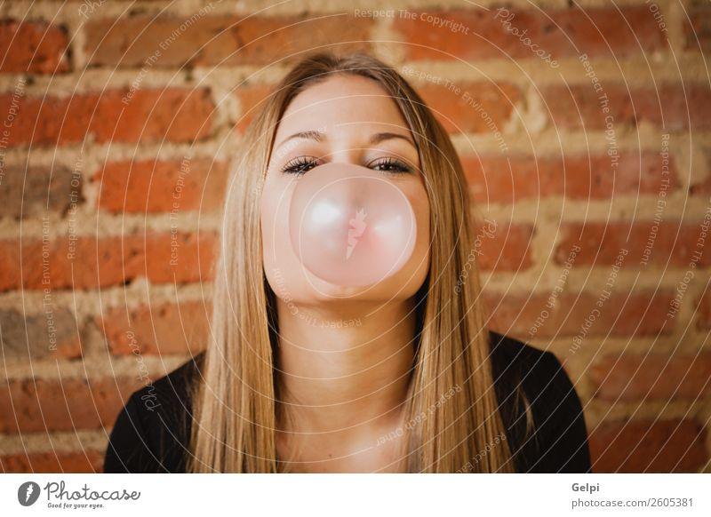 hübsches Mädchen Lifestyle Stil schön Haare & Frisuren Leben Mensch Frau Erwachsene Straße Mode blond Erotik trendy lustig modern rosa selbstbewußt jung