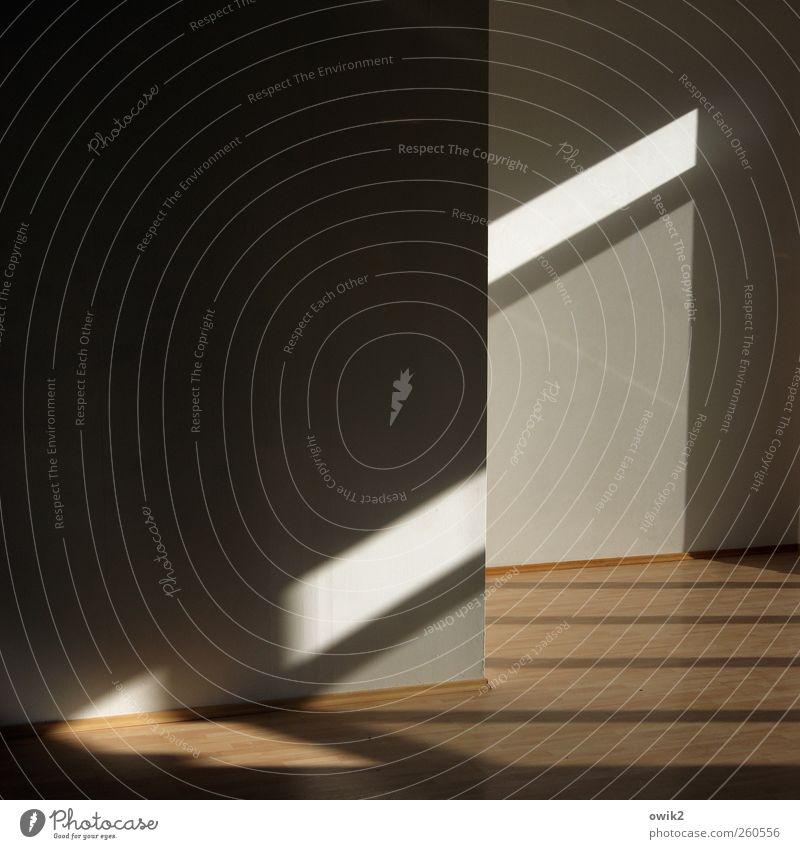 Vakuum weiß schwarz Wand grau Mauer hell Linie braun Raum Innenarchitektur modern leer Bodenbelag Ecke Umzug (Wohnungswechsel) parallel