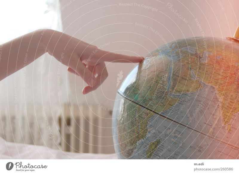 da will ich hin oder forever a globetrotter! Hand Ferne Ausflug Abenteuer Finger Globus Landkarte Fernweh Heimweh