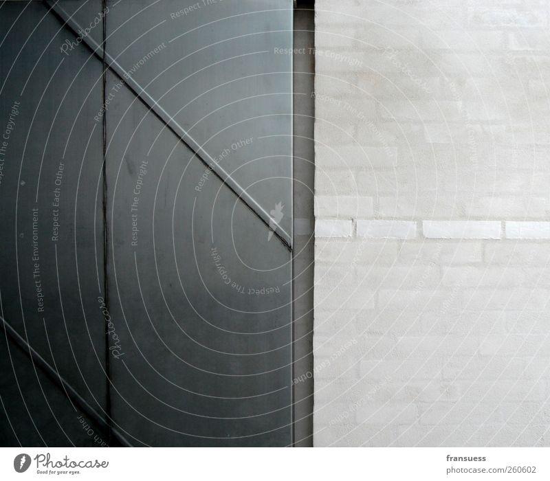 krau Stein Metall Backstein kalt grau Wand Detailaufnahme Mauer Linie weiß Geometrie gerade Gedeckte Farben Innenaufnahme Strukturen & Formen Menschenleer
